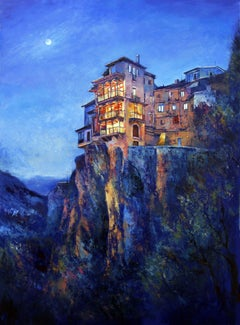A magical night in Cuenca, Painting, Oil on Canvas