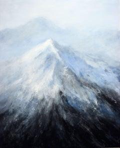 Alpine Landscape, Painting, Acrylic on Canvas