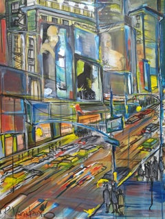 Cityscape, Painting, Acrylic on Canvas