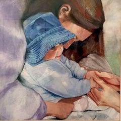 Blue Bonnet, Painting, Watercolor on Watercolor Paper