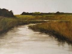Marsh 4, Painting, Oil on Wood Panel