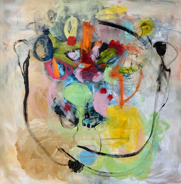 Flausen im Kopf, Painting, Acrylic on Canvas
