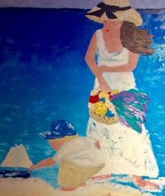 A MOTHERΓÇÖS LOVE, Painting, Oil on Canvas