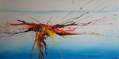 Sky Buzz V (Spirits Of Skies 098063), Painting, Acrylic on Canvas