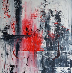Blood Brain Barrier (100 x 100 cm) (40x40 inches), Painting, Acrylic on Canvas