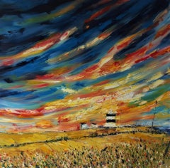 Sunrise Skies over Hook Head Lighthouse, Wexford I, Painting, Oil on Canvas