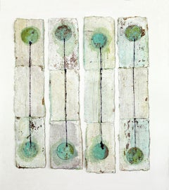Ink Water Gold: FOUR MORE TWO, Mixed Media on Canvas