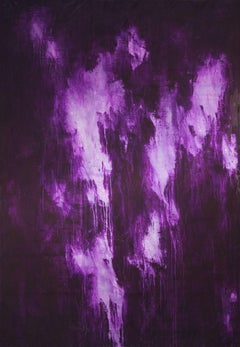 Quiet in purple, Painting, Acrylic on Canvas