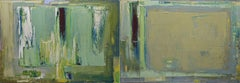 "dyptych ""Abstract TV"". Size 55.11/27.5 inches, Painting, Oil on Canvas"