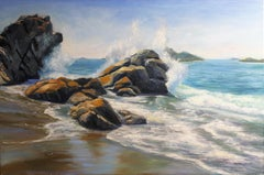 Waves sanctuary, Painting, Oil on Canvas