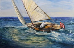 Sailing, Painting, Oil on Canvas