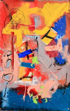 lLooking at the colours_#3, Mixed Media on Canvas