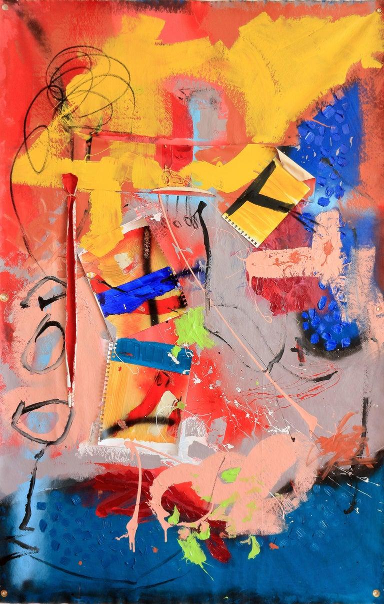 lLooking at the colours_#3, Mixed Media on Canvas - Mixed Media Art by Tadas Zaicikas