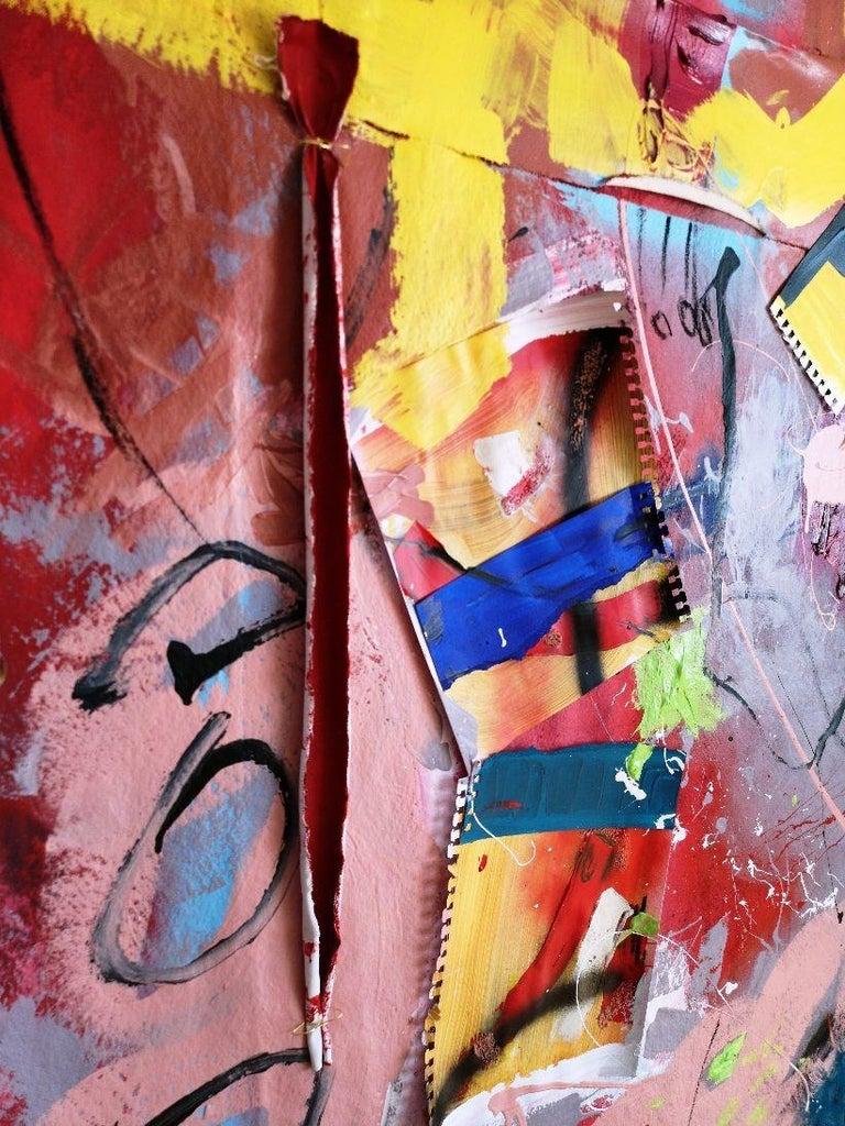 lLooking at the colours_#3, Mixed Media on Canvas - Modern Mixed Media Art by Tadas Zaicikas