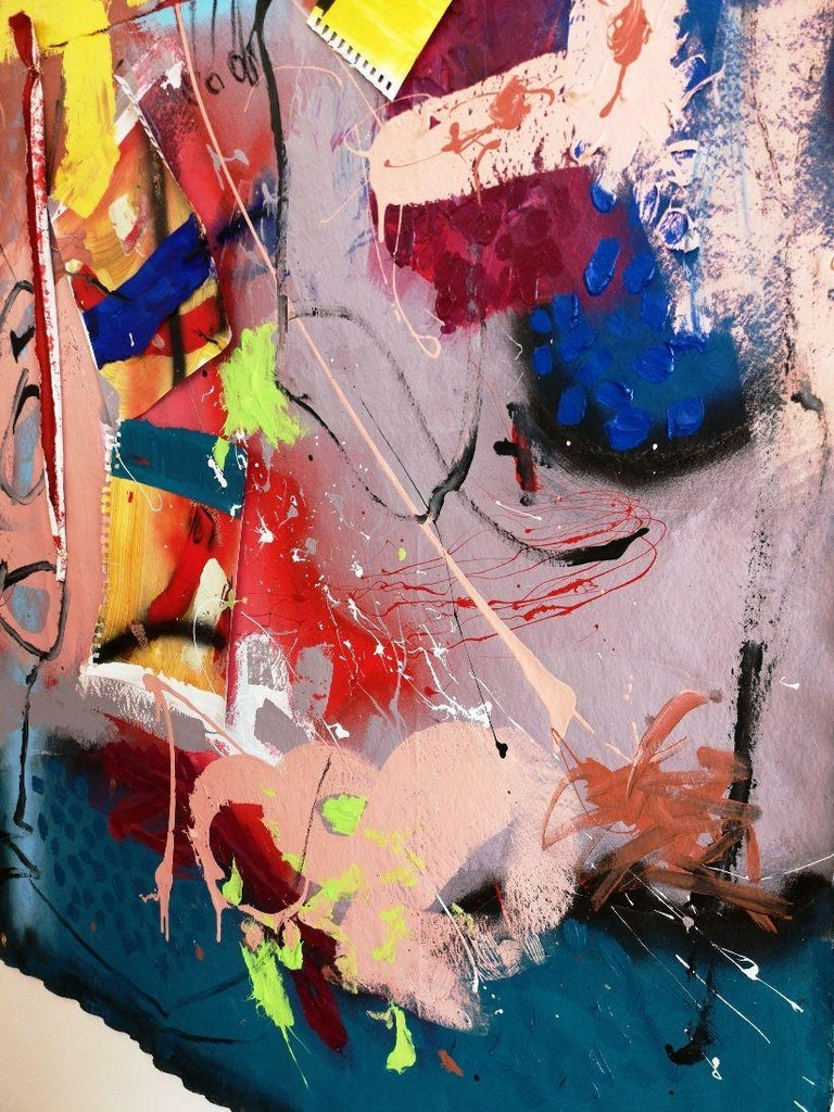 lLooking at the colours_#3, Mixed Media on Canvas For Sale 1