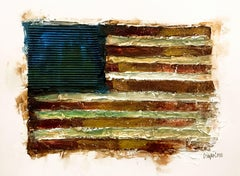 Old Glory, Drawing, Pen & Ink on Paper