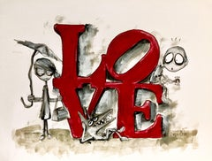 Love, Drawing, Pen & Ink on Paper