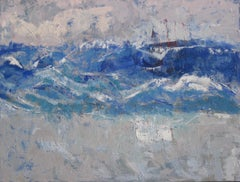 Rough Seas, Mixed Media on Canvas