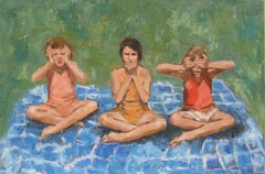 Three Little Monkeys, Painting, Oil on Canvas