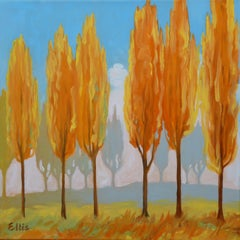 Poplars, Painting, Oil on Canvas