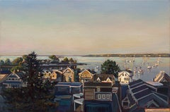 """""""VIEW FROM SWAMPSCOTT, NO. 2"""", Painting, Oil on Wood Panel"""