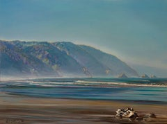 """""""HUMBOLDT COUNTY, NO. 3"""", Painting, Oil on Wood Panel"""