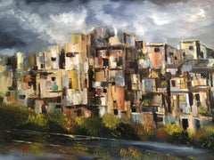 Stack Houses, Painting, Oil on Canvas