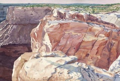 Dead Horse Point Utah, Painting, Watercolor on Watercolor Paper