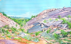 Enchanted Rock, Painting, Watercolor on Watercolor Paper