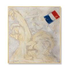 paris'68, Painting, Oil on Wood Panel