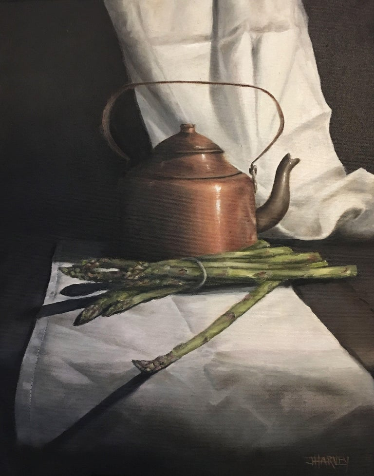Judith Harvey Copper Kettle Painting Oil On Canvas