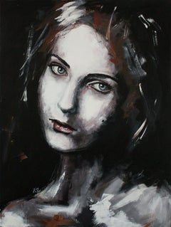 Adeline (PORTRAIT SERIES #5), Painting, Acrylic on Canvas