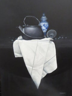 Black Kettle, Painting, Oil on Canvas