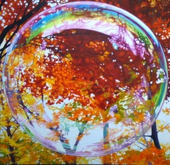 Blazing Bubble, Painting, Oil on Canvas