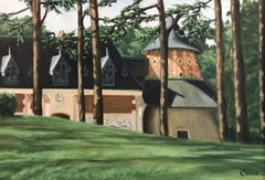 Stables at Chaumont, the Loire Valley, Painting, Oil on Canvas