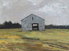 Hay Barn, Painting, Oil on Canvas