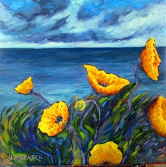 Yellow Poppies, Painting, Oil on Canvas
