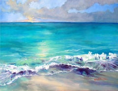 Where the Water Meets the Sky, Painting, Oil on Canvas