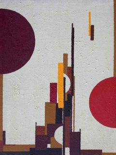 Frenzy on sand, Painting, Acrylic on Canvas