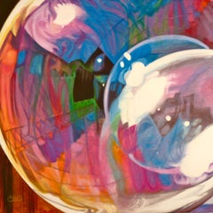 Barbecue Bubble, Painting, Oil on Canvas