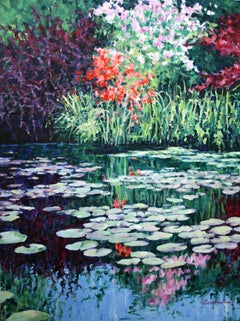 Garden Reflections, Painting, Oil on Canvas
