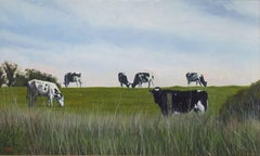 Highline Grazing, Painting, Oil on Canvas