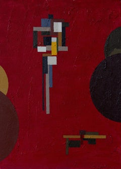 Constructions between Spheres, Painting, Acrylic on Canvas