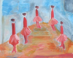THE BALLERINAS, Painting, Acrylic on Canvas
