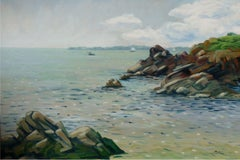 Sea by Concarneau, Brittany, Painting, Oil on Canvas