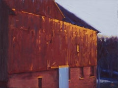 Afterglow - A Pennsylvania Dutch barn, Painting, Oil on Canvas