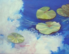 Cloud Reflections on Ophelia's Pond #3, Painting, Oil on Canvas