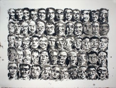 AUDIENCE #7, Drawing, Pen & Ink on Watercolor Paper