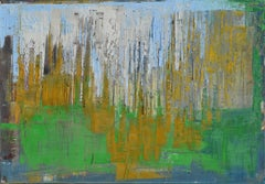 "Oil, canvas art, stretched, ""Abstract city 2"", Painting, Oil on Canvas"