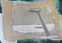 """Oil painting, canvas art, stretched, """"Pool 37"""", Painting, Oil on Canvas"""
